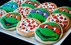 Ninja turtle cookies and other royal icing ideas