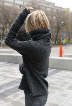 cozy grey. #JosefinDahlberg in Stockholm.