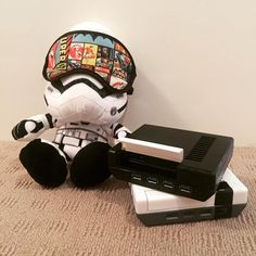 Something we loved from Instagram! Frank the #stormtrooper is trying to hide after painting the latest prototype. What do you think of his efforts? Currently looking for a supplier for the USB hubs. Once this is done it's time to finish the design and look at tooling! I will keep you posted on all progress. I love my #raspberrypi  #withicecream . #bringbackretrogaming and I'm going to do it #withicecream  #bringbackretrogaming #retro #raspberrypi #nes #nintendo #zelda #link #sega #snes…