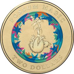 2017 $2 Coloured Coin - Possum Magic - Invisible Hush Hangs From a Tree Possum Magic, Flip Image, Coins Worth Money, Coin Worth, Hush Hush, Illustration, Notes, Australia, Color