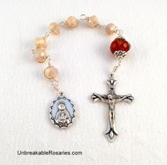 Seven Sorrows of The Virgin Mary Pocket Rosary Chaplet Come Visit UnbreakableRosaries.com