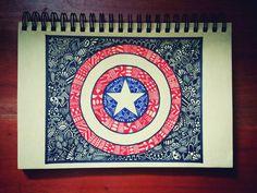 #Captain America #doodle