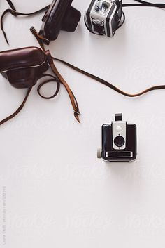Above sight of old analogical cameras by Laura Stolfi