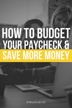 How to Budget Your Paycheck and Save More Money Money Hacks, Money Tips, Money Saving Tips, Earn More Money, Ways To Save Money, Living On A Budget, Frugal Living, Saving For College, Making A Budget