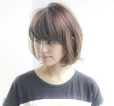 Medium length hairstyles for thin hair hair styles pinterest short hair style with bangs haircuts for thin winobraniefo Image collections
