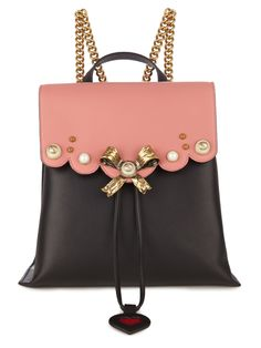 GUCCI Peony leather backpack