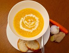 Easy Creamy Carrot Soup With Ginger  Captain Bobcat #foodiefriday