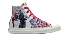 Just like DC Comics' Task Force X, the Converse Custom Chuck Taylor Suicide Squad High-Top Shoes are so bad that they're good. What's better than cool Suicide Cute Sneakers, Cute Shoes, Me Too Shoes, High Top Sneakers, Converse Design, Nike Converse, Custom Converse, Harley Quinn, Converse Chuck Taylor