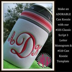 Can Koozie In The Hoop Template Embroidery Design