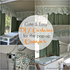 Curtains for the pop up camper