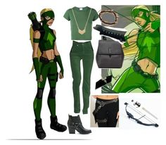 A fashion look from December 2016 featuring ripped t shirt, 5 pocket pants and block heel booties. Browse and shop related looks. Artemis Young Justice, Love Lily, Fandom Fashion, Karen Walker, Aesthetic Makeup, Armani Jeans, Disneybound, Justice League, Halloween Costumes
