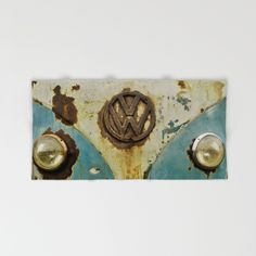 VW Rusty Hand & Bath Towel #towel #bathroom #VW #Volkswagen #Camper #Bus #rusty #retro #ratty #home #hand #bath #beach