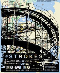 The Strokes concert poster