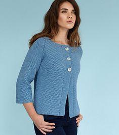 Ravelry: Day by Kim Hargreaves Knit Cardigan Pattern, Crochet Jacket, Sweater Knitting Patterns, Crochet Cardigan, Knit Crochet, Sweater Cardigan, Pullover Design, Sweater Design, Knit Fashion