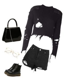 """""""Black"""" by anisiabt on Polyvore featuring Boohoo and adidas Originals"""