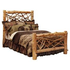 Fireside Lodge Traditional Cedar Log Panel Bed Size: California King, Finish: Traditional