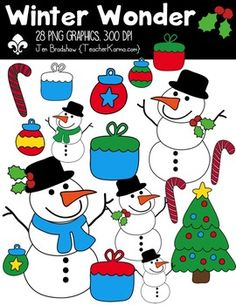 {FREE today} Winter Wonder Clipart ~ Commercial Use OK ~ C