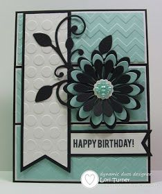 By Lori Turner - Dynamic Duos: Dynamic Duos #66-Light Aqua and Black with the OPTION of Embossing