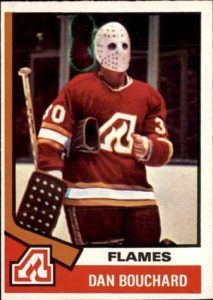 Highlights, stats and hockey card info for Dan Bouchard. Dan played in the NHL for the Atlanta Flames, Calgary Flames, Quebec Nordiques and Winnipeg Jets. Hockey Cards, Baseball Cards, Quebec Nordiques, Atlanta, Goalie Mask, Hockey Goalie, Trading Cards, Nhl, Georgia