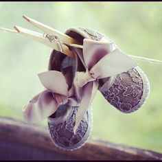Ask guest to bring a pair of baby shoes and display them at the shower | Lilyshop | Vintage Baby Shower by Lilyshop
