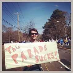 This guy. | The 42 Best Signs From The Boston Marathon