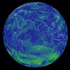 Интерактивная карта ветров планеты