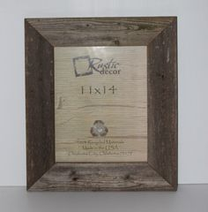 11x14 rustic barn wood 35extra wide wall frame