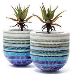 Obbligato Plant Pots - BubbleX mosaic pots