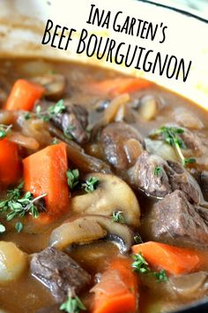 Simply the best. Ina Garten's Beef Bourguignon