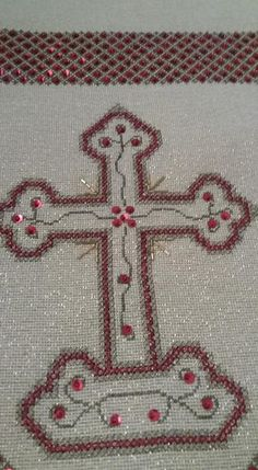 Easter Cross, Cross Patterns, Christmas Cross, Cross Stitch, Cross Stitch Embroidery, Hand Embroidery, Dressmaking, Handicraft, Punto De Cruz
