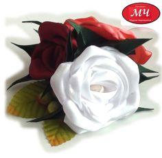 МК Роза из атласной ленты. Канзаши. Цветы из лент. DIY Ribbon flowers