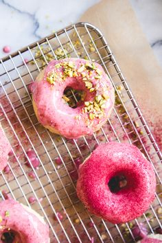 Strawberry Buttermilk Baked Donuts | lark & linen