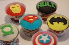 Super Hero Icon Cupcakes