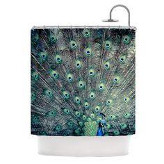 "Shower Curtain - Ann Barnes ""Majestic"" Great Gift - Matches Bath Mat!"