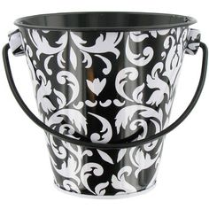 Black & White Damask Party Pail $1.59 @ Hobbylobby