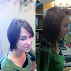 Hair extensions in short hair