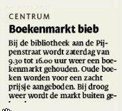 Boekenmarkt. Tubantia 30/04/2015