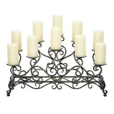 """Antique Silver & Black Fireplace Candelabra 10 Candle CA-7958 - Old World Design Antique Silver & Black Fireplace Candelabra 10 Candle CA-7958SKU: CA-7958Manufacturer: Old World DesignCategory: AccessoriesSub-Category: AccessoriesFinish: Antique Silver & BlackProduct Type: Candle HolderDimensions: 28""""W X 9""""D X 17""""H"""