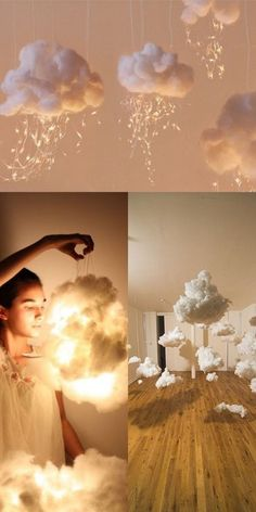 "DIY Lampen Wolken aus Watte Fotografie Idee Porträt Foto Hack Inspiration boy first"" girl names nursery stuff Home Crafts, Diy And Crafts, Cute Diy Crafts For Your Room, Baby Crafts, Diy Bebe, Pinterest Diy, Diy Room Decor, Diy Christmas Room Decor, Baby Room"