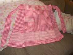 vintage aprons---- looks like my first  4-H apron :) :)