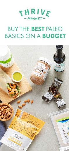 Thrive Market sells your favorite paleo products for up to 50% off retail. Join today and get an EXTRA 20% off your first order!