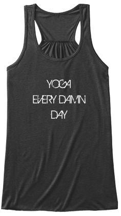 yoga every damn day tank