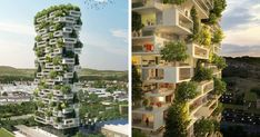 384ft-Tall Apartment Tower To Be World's First Building Covered In Evergreen Trees | Bored Panda