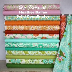 Up Parasol by Heather Bailey with Solid Coordinates. Find solid colors here!