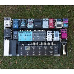 We designed and built this system for What an incredible selection of pedals! Guitar Pedal Board, Guitar Rig, Guitar Effects Pedals, Guitar Pedals, Diy Pedalboard, Types Of Guitar, Junction Boxes, Guitar Building, Rigs