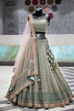 lehnga dress MahaRani Couture - WhatsApp 918320238260 - Source by tivanshee - Indian Fashion Dresses, Indian Gowns Dresses, Dress Indian Style, Indian Designer Outfits, Designer Dresses, Dresses Dresses, Indian Designers, Dress Fashion, Party Dresses