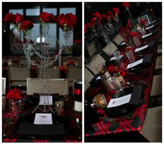 Candleabra, Chains, Studded Vases, Red Roses