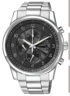 Citizen Mens CA0330-59E Eco-Drive Stainless Steel Chronograph Watch