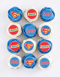 Super Dad Chocolate Chip Cupcakes Pink Happy Birthday, Happy Birthday Candles, Happy Birthday Balloons, Vanilla Butter Icing, Cupcakes Delivered, Cupcakes Online, Chocolate Chip Cupcakes, Unicorn Balloon, Cupcakes For Boys