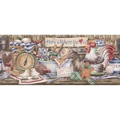 Country Kitchen Wallpaper Border Kitchen Wallpaper Kitchen
